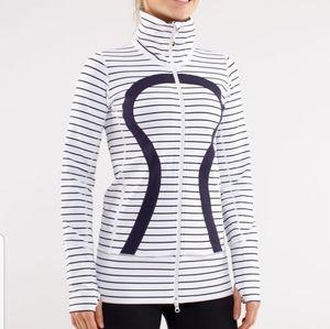 Lululemon In Stride Jacket Black and White Stripe